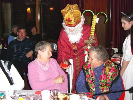Pensioners also received presents from St Nicholas